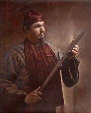 Man & Chinese Samurai Sword Color HENDRICKSON PHOTO Original Artist Studio D893