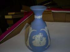 Rare Vintage Pale Blue Wedgwood Jasperware Greek Mythology Bottleneck Vase