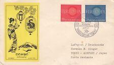 1961 Flown Luftpost  Frankfurt - Tokyo  100 Anniv Handel Deutschland Special Pos