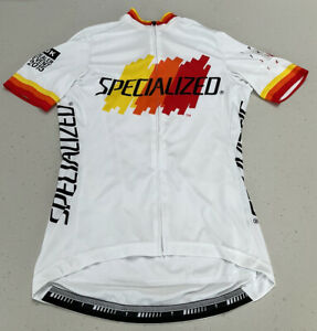 Specialized Ladies Short Sleeved Cycling Jersey - S - White/red/yellow/orange
