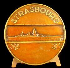 Medaglia 1942 68 mm la nave di linea Strasburgo Morlon sc guerra spedizione