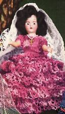 "Crochet Doll QUEEN ISABELLA of Spain 7"" Clothes Pattern"