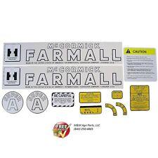 FARMALL SUPER A TRACTOR DECAL SET / IH MCCORMICK INTERNATIONAL SUPER A DECAL KIT