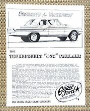 FORD FAIRLANE 427 HI RISER FACTORY LIGHT WEIGHT DRAG CAR LITERATURE FACT SHEET 1