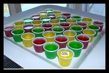 50 x VODKA JELLY PLASTIC SHOT GLASSES - 30ml 1oz.- (DV)