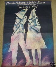 GINGER & FRED Federico Fellini original Polish movie Poster 1987