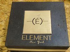 Vintage ELEMENT NY-NEW IN BOX  GIFT SET - WRIST WATCH & BELT -