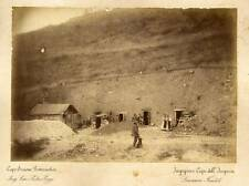 Railway construction Palermo Catania The workers' homes 1890c Photo Chauffourier