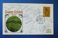 1973 SUSSEX COUNTY CRICKET CENTENARY FIRST DAY COVER SIGNED BY 16 PLAYERS