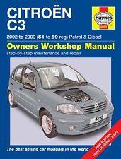 Haynes Manual 4890 Citroen C3 1.1i 1.4i 1.6i Petrol 1.4HDi 1.6HDi Diesel 2002-09