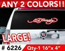 "ED HARDY LARGE DECAL STICKER 16""wx4""h Any 2 Colors 6226"