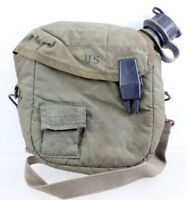 US Military 1985 2-QT Bladder Green Canteen w/NBC Lid & OD Green Insulated Cover