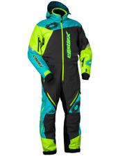 Castle X Freedom Monosuit Shell Charcoal.Hi-Vis.Turquoise Snowmobile Suit