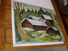 "Original ROSE SUSLOVICH ART: BARNS, 24 x 30"", signed, on board"