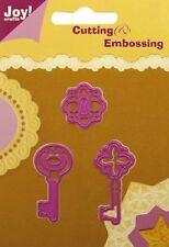 Joy Crafts Die Cutting Embossing Stencils keys 6002/0070  3pcs