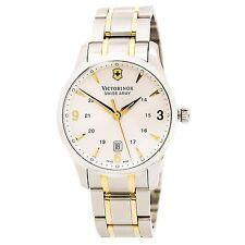 Swiss Army 241477 Men's Silver Dial Two Tone Steel Bracelet Watch
