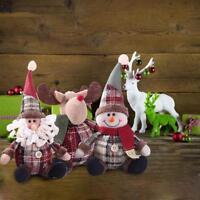Christmas Santa Claus Snowman Ornament Festival Party Xmas Table Decor Doll SL
