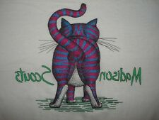 Vintage 1980s CAT BUTT T SHIRT Madison Scouts BUTTERY SOFT Sportswear 80s M
