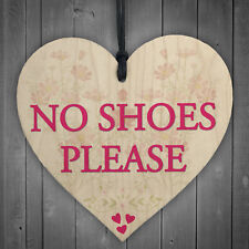 No Shoes Please Remove Trainers Home Carpet Gift Hanging Plaque High Heels Sign