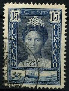Curacao 1928-32 SG#116a, 15c Indigo Queen Wilhelmia P12.5 Used #D43846