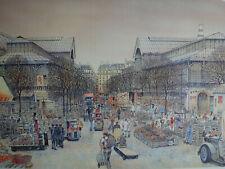 Rolf RAFFLEWSKI : PARIS Les Halles- LITHOGRAPHIE Originale signée au crayon