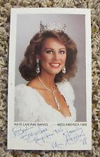 KAYE LANI RAE RAFKO MISS AMERICA 1988 AUTO 3.5 x 6 PHOTO HUGE COLLECTION RARE