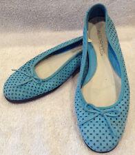 AEROSOLES Womens NASHVILLE Turquoise Blue Ballet Slippers Flats Shoes Sz 6M EUC.