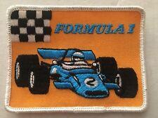 Vintage Patch Formula 1 Indy Race Car Hot Rat Rod 80s 70s NOS
