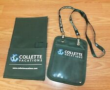 Collette Vacations Green Badge / Lanyard & Travel Document Pouch **READ**