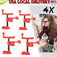 """4 Pack 3/4"""" Wood Gluing Pipe Clamp Set Heavy Duty PRO Woodworking Cast Iron New"""