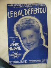 Partition Le Bal défendu Lyane Mairêve 1945