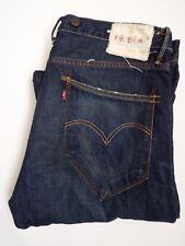 LEVI'S 503 JEANS MEN'S LOOSE STRAIGHT LEG W34 L30 DARK BLUE STRAUSS LEVM209  #