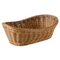 Oval Wicker Woven Basket Bread Basket Serving Basket, 11 Inch Storage Baske Y3W1