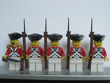 Lego PIRATES AMERICAN REVOLUTION Colonial BRITISH ROYALIST Soldiers MINIFIGS