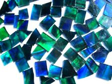 100 grams Blue/Green Perfect Mosaic size Tile pieces