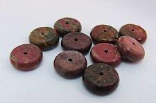 """Lot de 10 Naturel PICASSO pierres précieuses perles """"PLAT rond"""" 12.5 mm x 4 mm"""