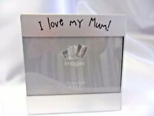 """Photo frame for """"Mum"""" Aperture for 5"""" x 3.5"""" photo. """"I love my Mum"""". Metal"""