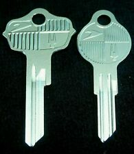 STUDEBAKER LARK Logo KEY blank SET, Fits many 1947-1963, COMMANDER CHAMPION HAWK