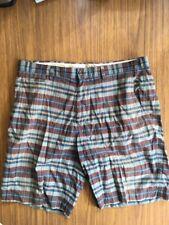 (used) Gazman Plaid Casual Golf Shorts Size 38 Multicolor