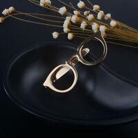 Bar Jewelry Men Gold Clasp Tie Clips Glasses Shape Pocket Clip Alloy