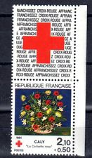 FRANCE TIMBRE CROIX ROUGE AVEC VIGNETTE 2345 ** MNH D CORBEILLE DE CALY - 1984