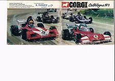 Corgi catalogue 1973 en français pompiers F1 Land Rover Ferrari camion bus