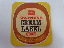 Rare Beer Coaster ~ TRUMAN'S Brewery Watneys Cream Label Stout ~ London, ENGLAND