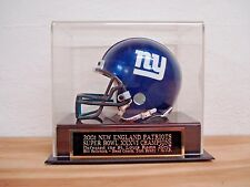 Football Mini Helmet Case With A Patriots Super Bowl 36 Engraved Nameplate