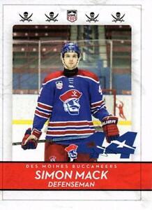 2020-21 Des Moines Buccaneers Hockey Simon Mack Trading Card USHL