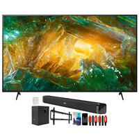"Sony XBR85X800H 85"" X800H 4K UHD LED TV (2020) with Deco Gear Soundbar Bundle"