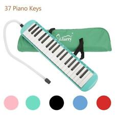 More details for glarry 37-key melodica with mouthpiece hose bag musical instruments green uk