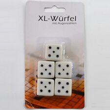 25 Stück XL-Würfel mit Augenzahlen für extra großen Spielspaß! Große Würfel Set