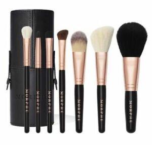 Morphe Rose Baes Mini Brush Set x 7 Tubby Powder Foundation Crease Blusher NEW