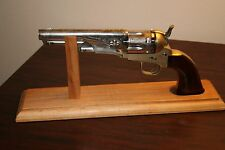"""Solid Cherry Wood Pistol Display Stand for BP Revolvers 5 1/2"""" - 6 1/2"""" barrel"""